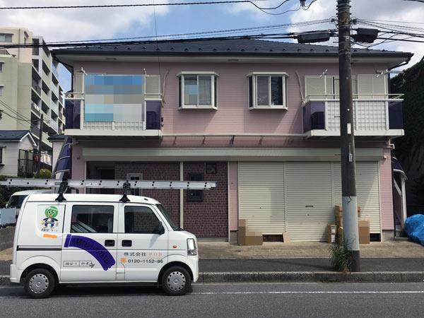 八千代アパート 塗装後|外壁塗装、住宅リフォームのことなら千葉のペイント・オン・デマンドに お任せください。