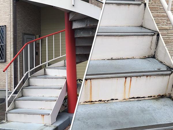 市川アパート 塗装前|外壁塗装、住宅リフォームのことなら千葉のペイント・オン・デマンドに お任せください。